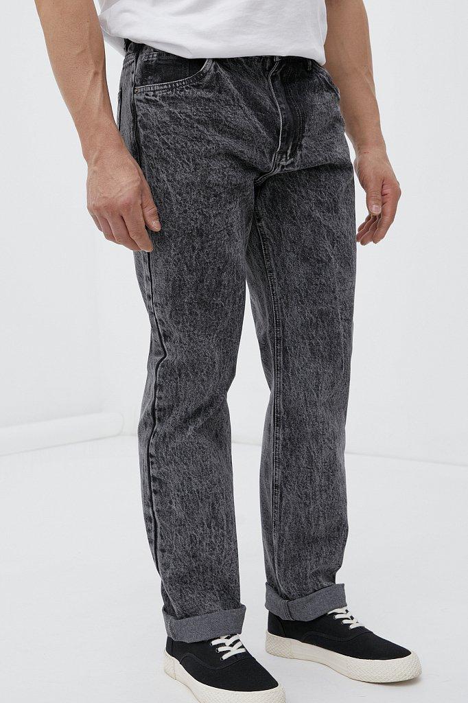 Классические прямые мужские джинсы straight fit, Модель FAB25009, Фото №3