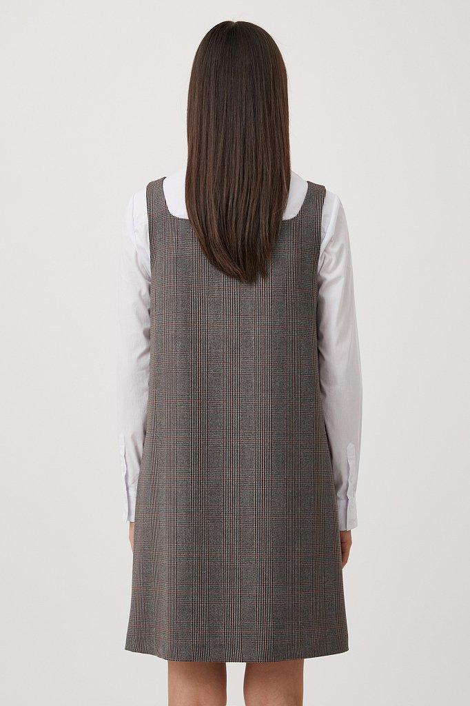Сарафан женский свободного кроя с широкими лямками, Модель FAB110166R, Фото №4