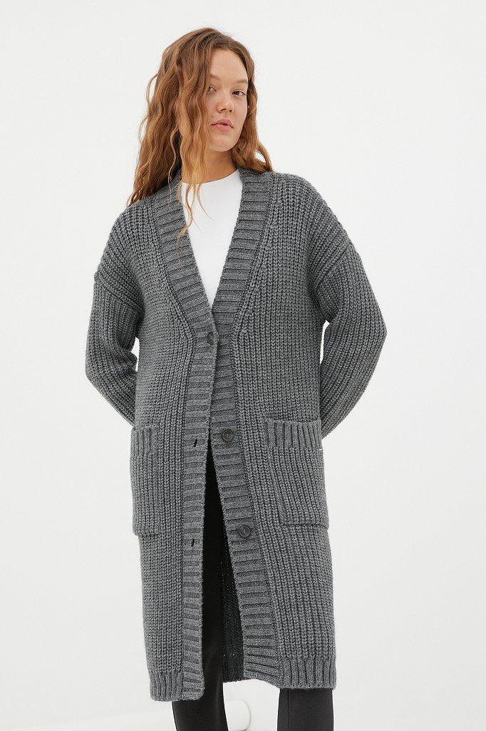 Пальто женское с шерстью, Модель FAB111104, Фото №2