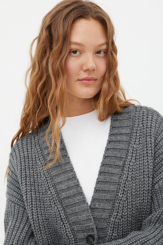 Пальто женское с шерстью, Модель FAB111104, Фото №5