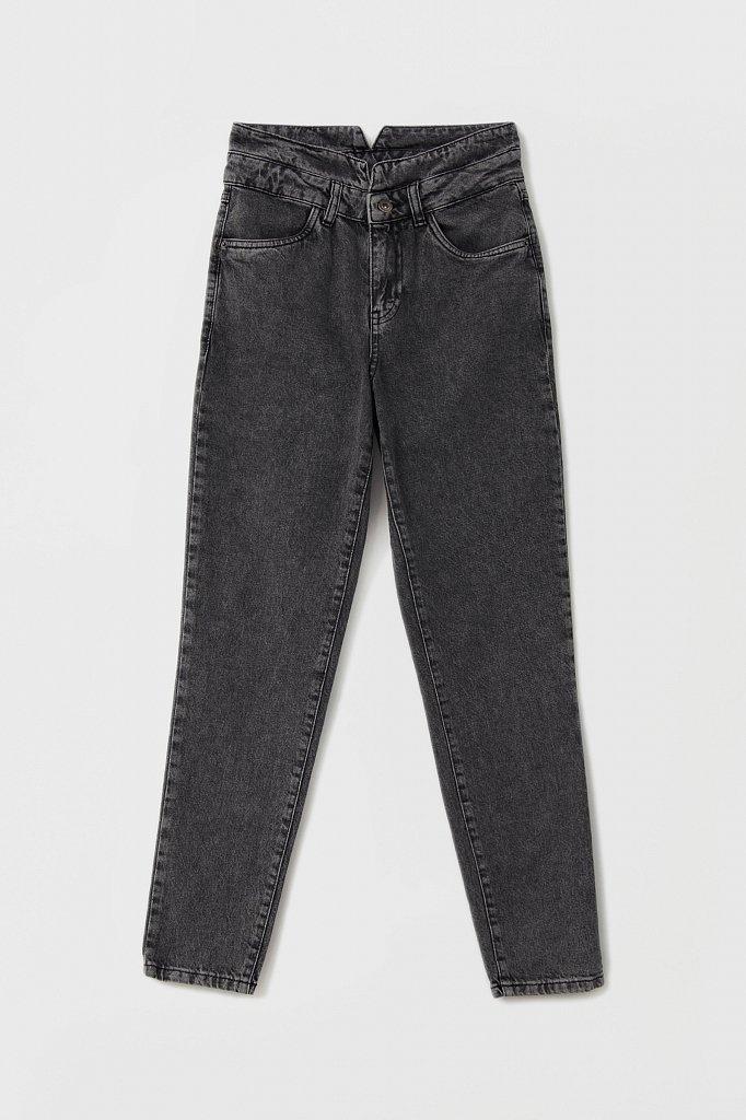 """Женские джинсы tapered fit с """"двойным"""" поясом, Модель FAB15014, Фото №6"""