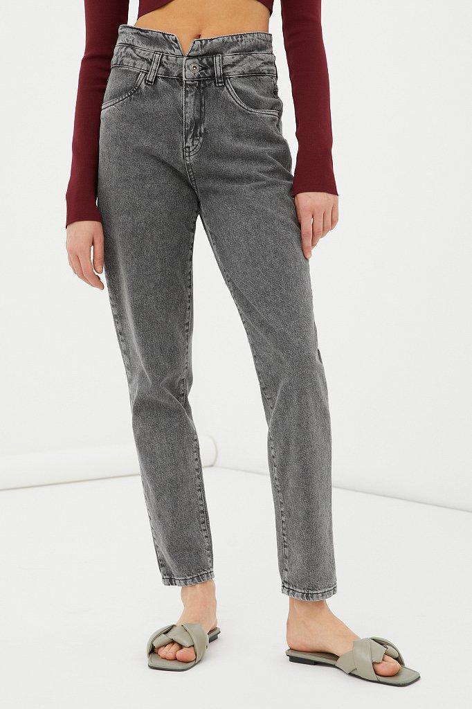 """Женские джинсы tapered fit с """"двойным"""" поясом, Модель FAB15014, Фото №2"""