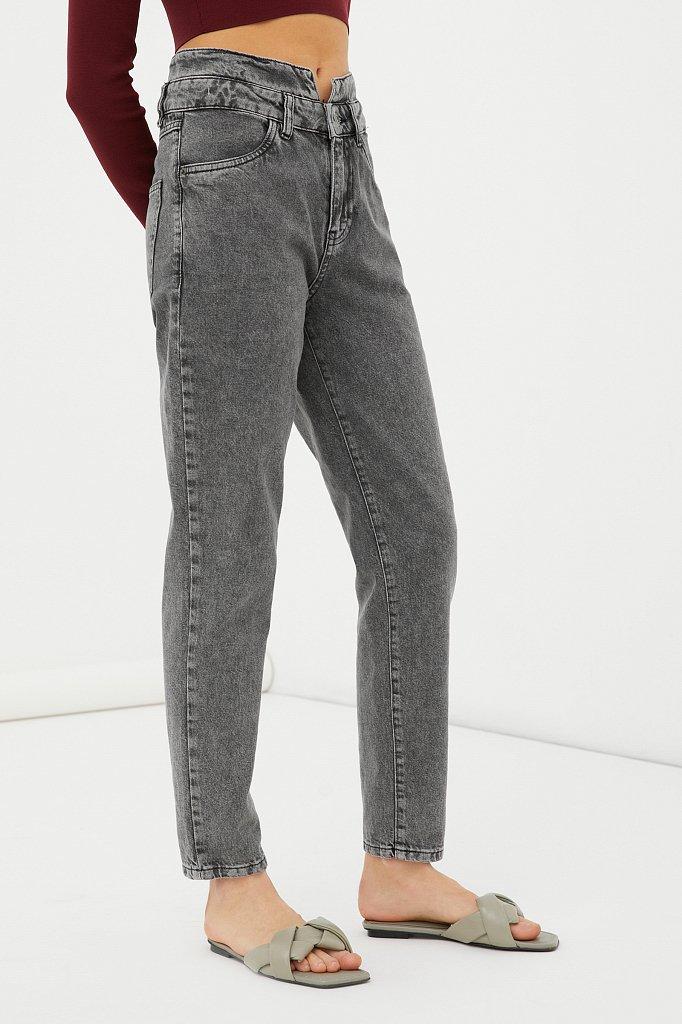 """Женские джинсы tapered fit с """"двойным"""" поясом, Модель FAB15014, Фото №3"""
