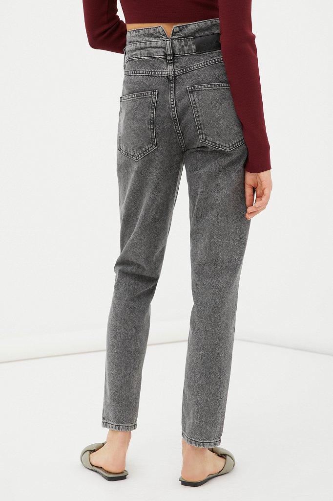 """Женские джинсы tapered fit с """"двойным"""" поясом, Модель FAB15014, Фото №4"""