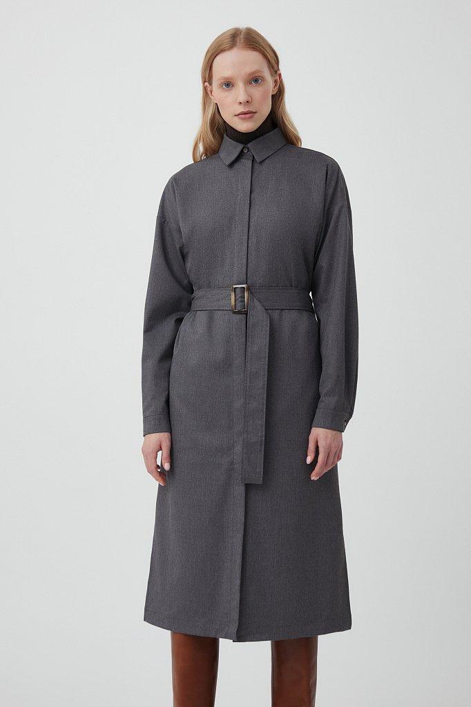 Платье-рубашка женское из мягкой смесовой ткани, Модель FAB11036, Фото №2