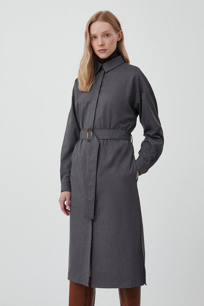 Платье-рубашка женское из мягкой смесовой ткани, Модель FAB11036, Фото №3
