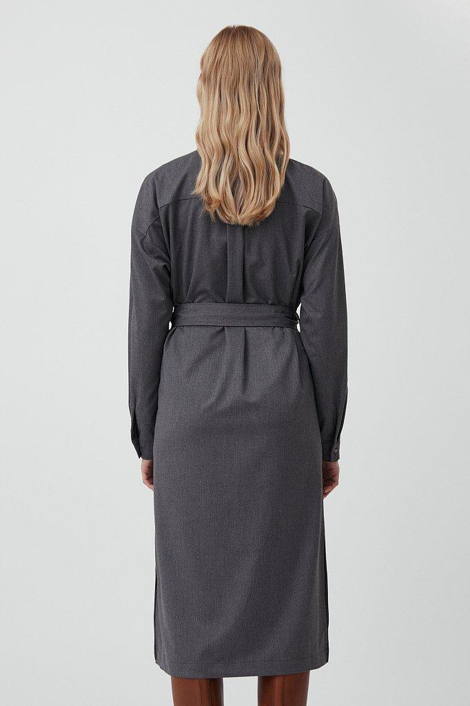 Платье-рубашка женское из мягкой смесовой ткани, Модель FAB11036, Фото №4