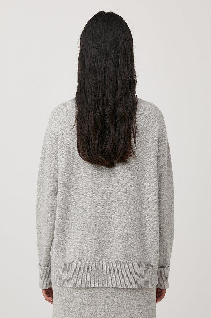 Свитер женский оверсайз с шерстью и кашемиром, Модель FAB11184, Фото №4