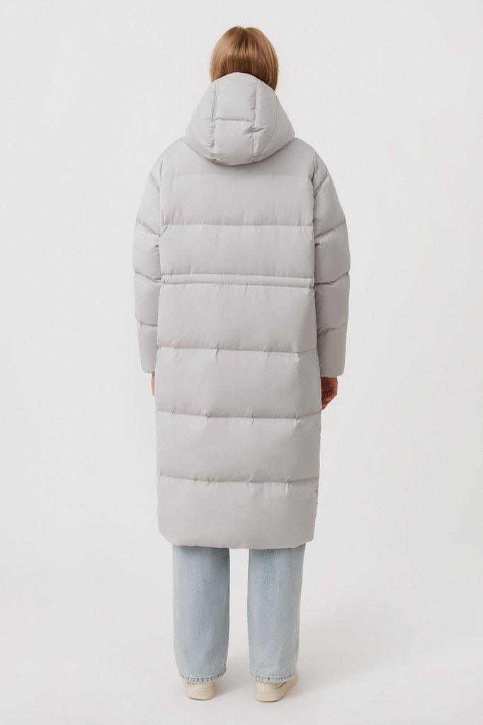 Пуховое женское пальто свободного кроя, Модель FAB110183, Фото №5