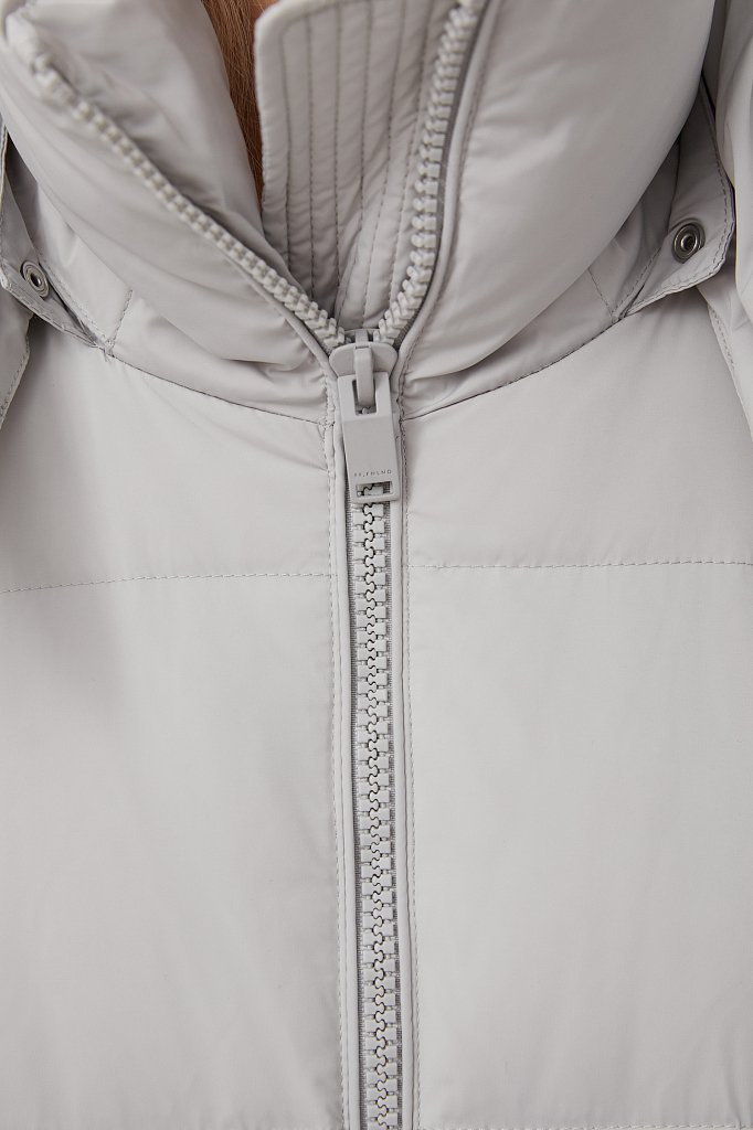 Пуховое женское пальто свободного кроя, Модель FAB110183, Фото №6