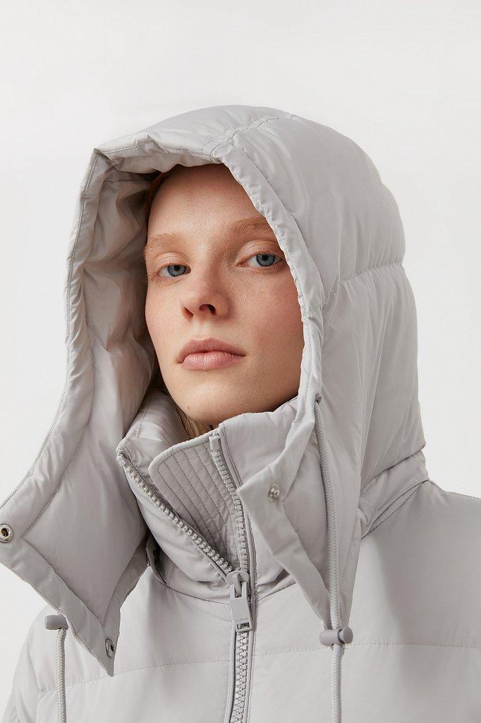 Пуховое женское пальто свободного кроя, Модель FAB110183, Фото №7