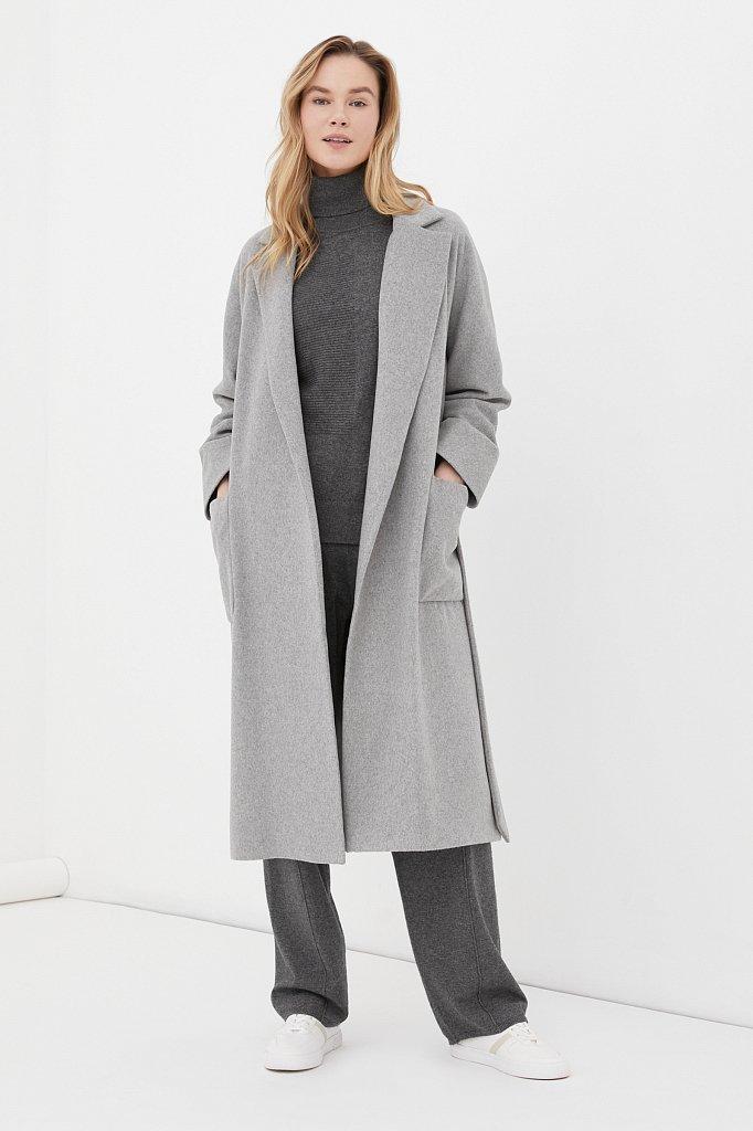 Оверсайз пальто женское с шерстью, Модель FAB11090, Фото №2