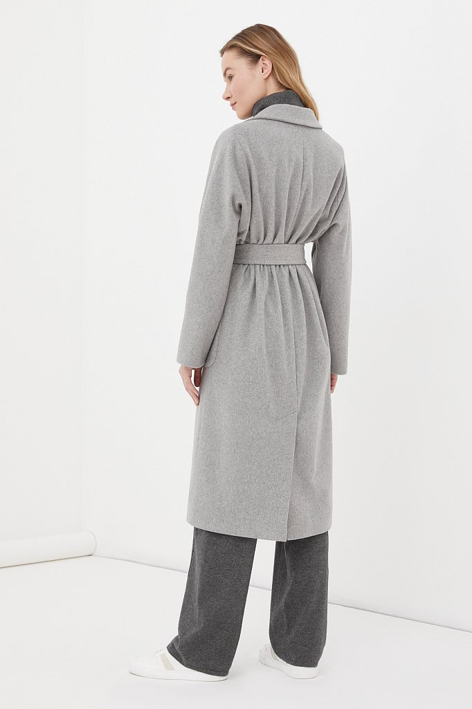 Оверсайз пальто женское с шерстью, Модель FAB11090, Фото №4