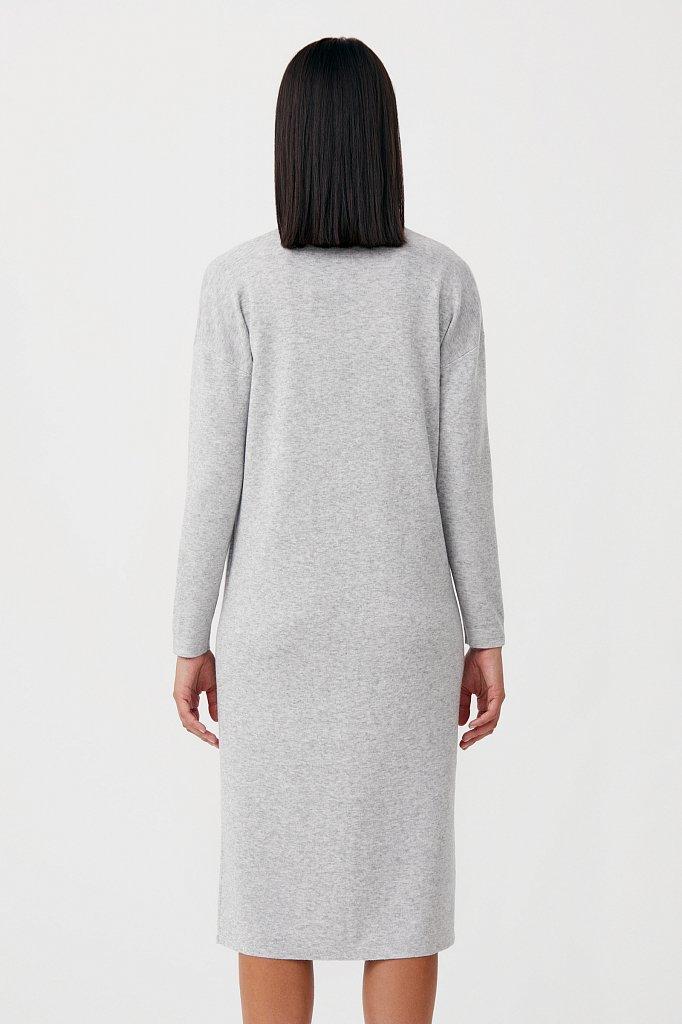 Женское трикотажное платье прямого кроя с шерстью, Модель FAB11190, Фото №4