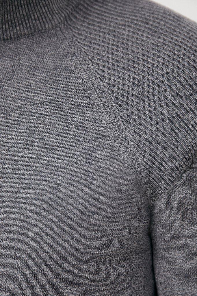 Трикотажный мужской джемпер прямого силуэта, Модель FAB21118, Фото №5
