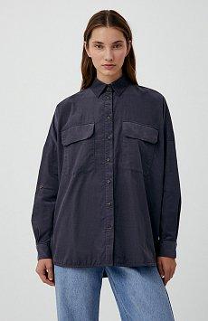Вельветовая женская рубашка оверсайз с карманами FAB11047