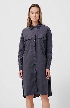 Вельветовое женское платье-рубашка оверсайз FAB11050