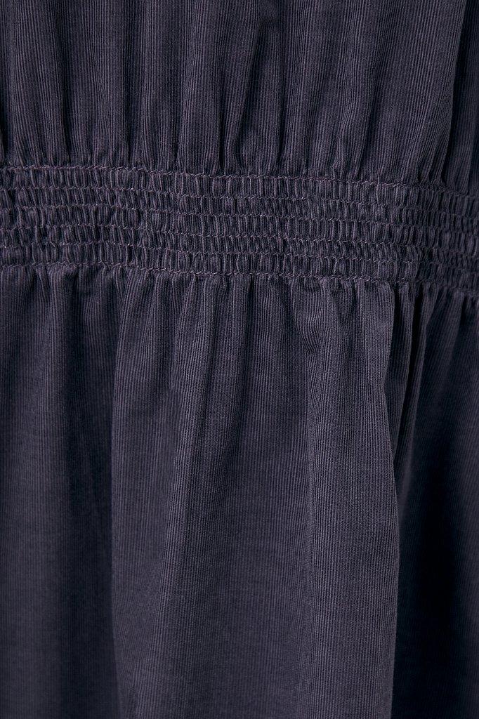 Вельветовое женское платье-рубашка оверсайз, Модель FAB11050, Фото №6