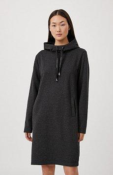 Свободное платье в спортивном стиле с капюшоном FAB110210