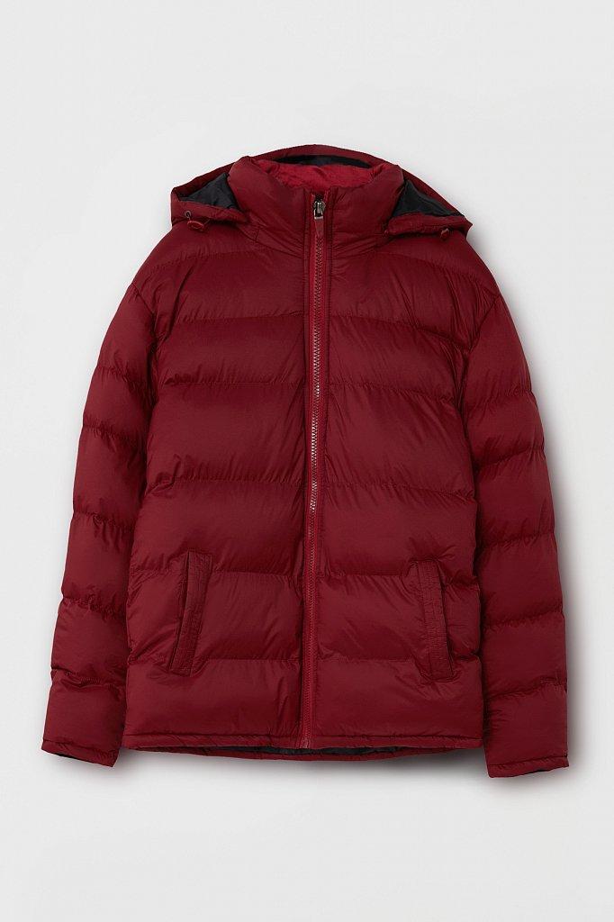 Куртка мужская свободного кроя с капюшоном, Модель FAB210108C, Фото №8
