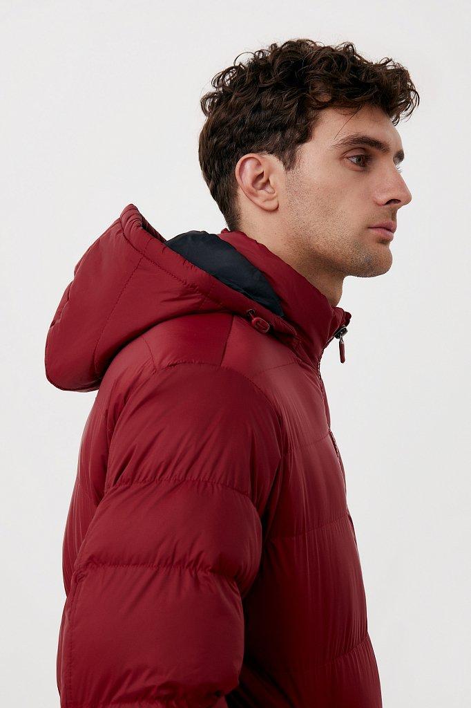 Куртка мужская свободного кроя с капюшоном, Модель FAB210108C, Фото №7