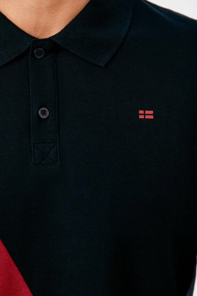 Мужской лонгслив в стиле color block из хлопка, Модель FAB21094, Фото №5