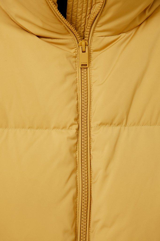 Пуховик женский прямого силуэта, Модель FAB110108, Фото №5