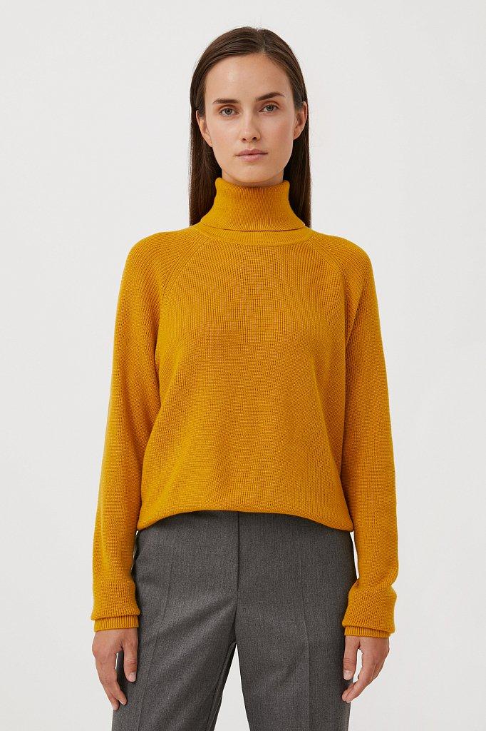 Женский свитер прямого силуэта с шерстью, Модель FAB11172, Фото №1