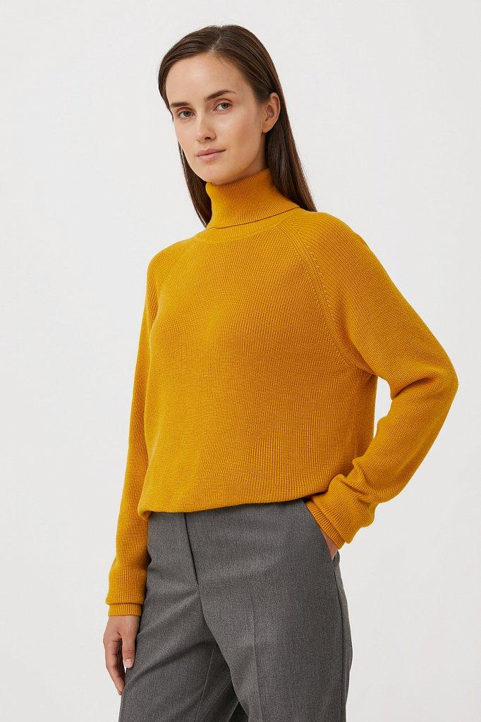 Женский свитер прямого силуэта с шерстью, Модель FAB11172, Фото №3