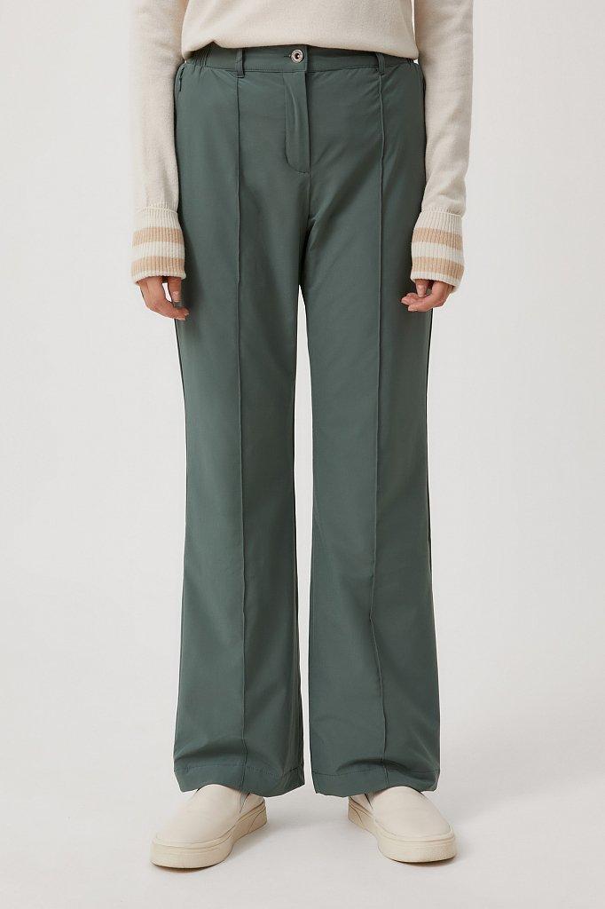Утепленные женские брюки с поясом на резинке, Модель FAB110174, Фото №2