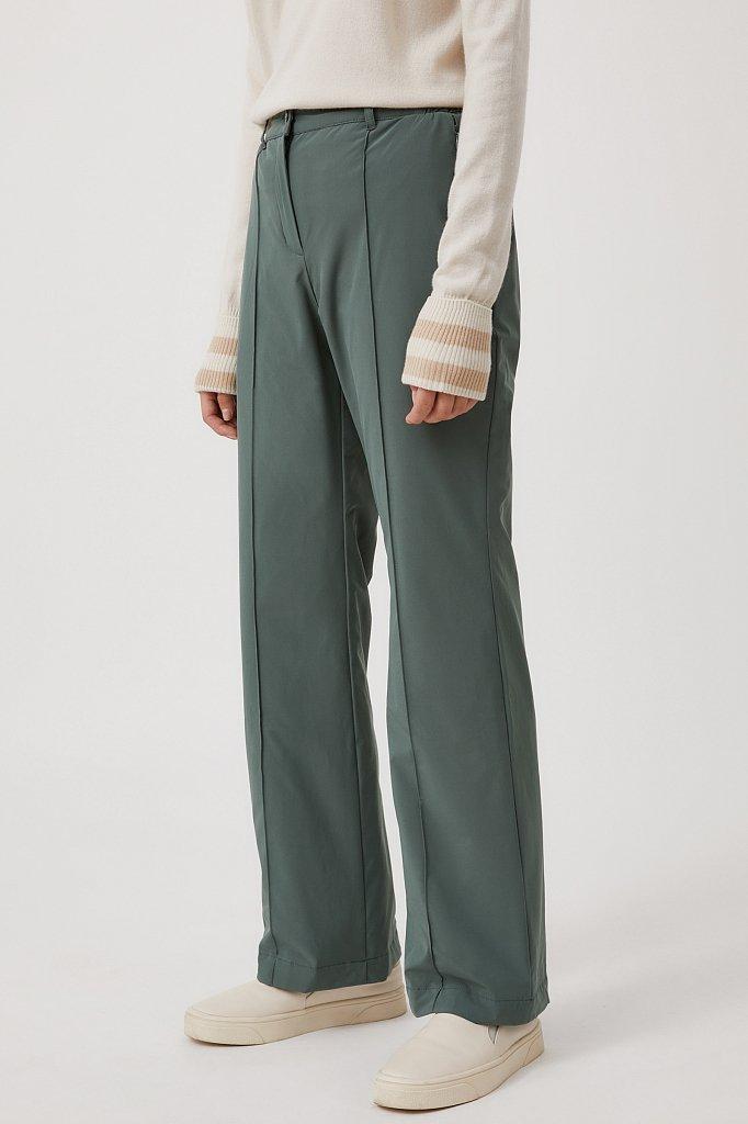 Утепленные женские брюки с поясом на резинке, Модель FAB110174, Фото №3