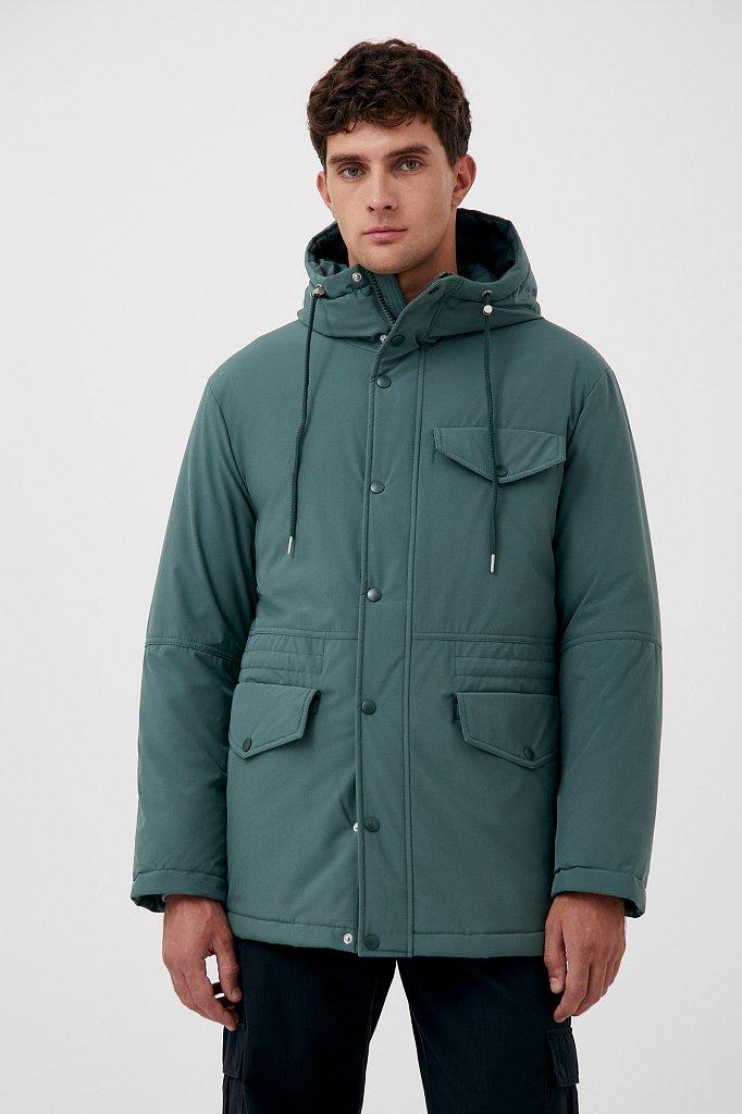 Демисезонная куртка мужская свободного кроя, Модель FAB21049, Фото №1