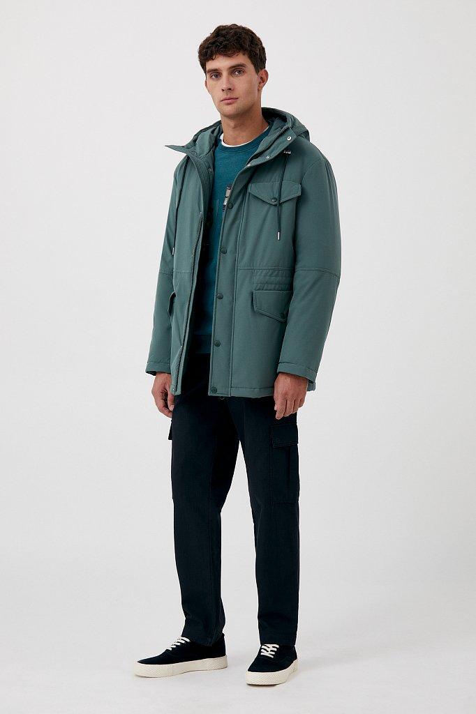 Демисезонная куртка мужская свободного кроя, Модель FAB21049, Фото №2