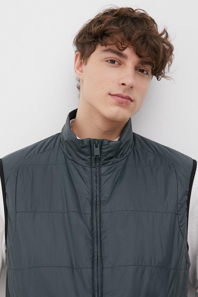 Утепленный мужской жилет прямого кроя, Модель FAB21032, Фото №5