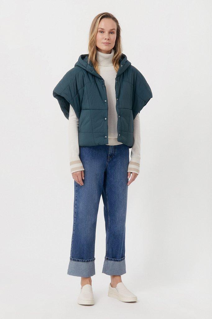 Укороченный женский жилет фасона oversize, Модель FAB110110, Фото №2