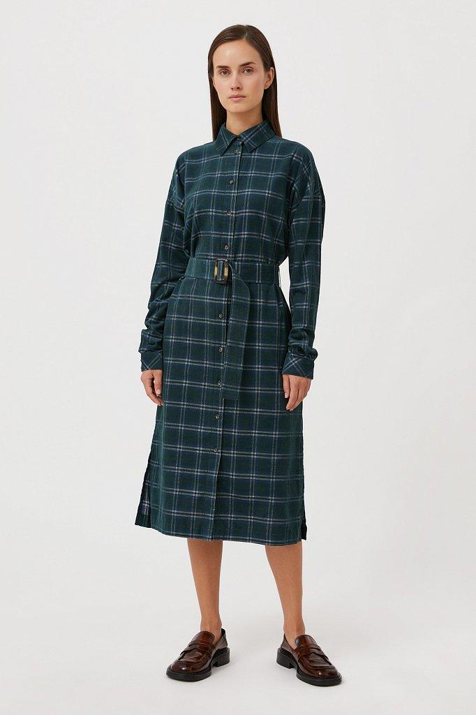 Вельветовое платье-рубашка, Модель FAB110116, Фото №1
