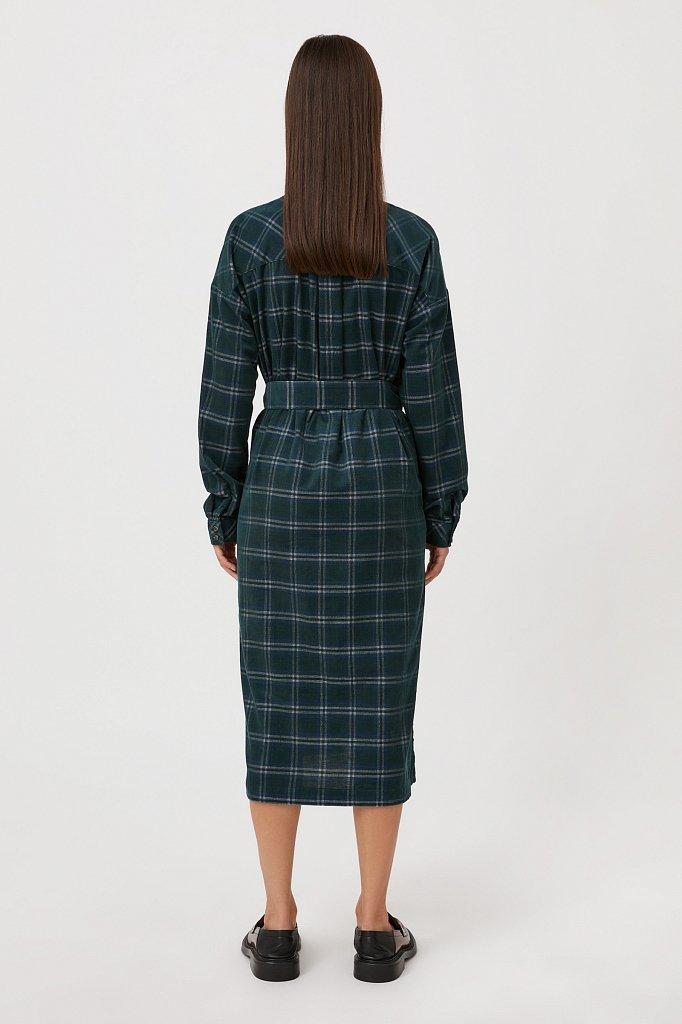 Вельветовое платье-рубашка, Модель FAB110116, Фото №4
