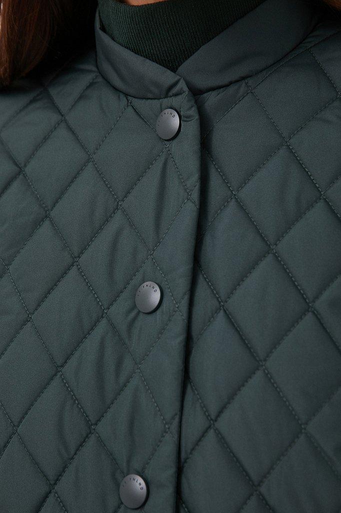 Стеганая женская куртка с объемными рукавами, Модель FAB110136, Фото №5