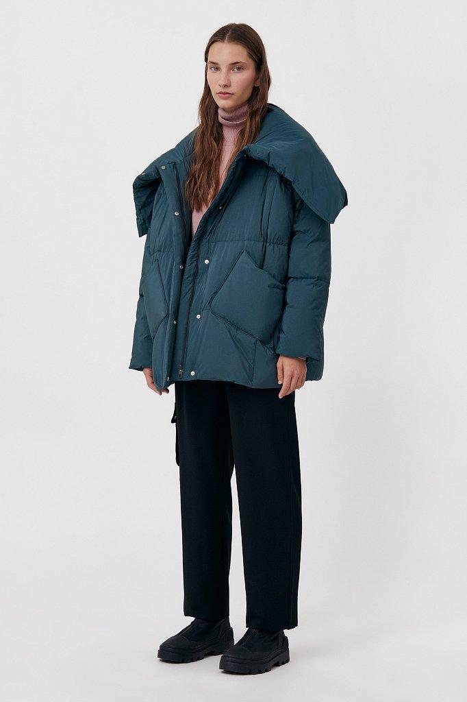 Оверсайз пуховик женский фасона «одеяло», Модель FAB11093, Фото №2