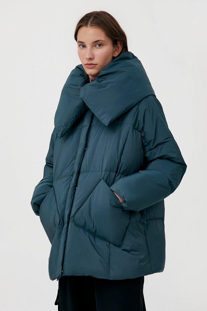 Оверсайз пуховик женский фасона «одеяло», Модель FAB11093, Фото №3