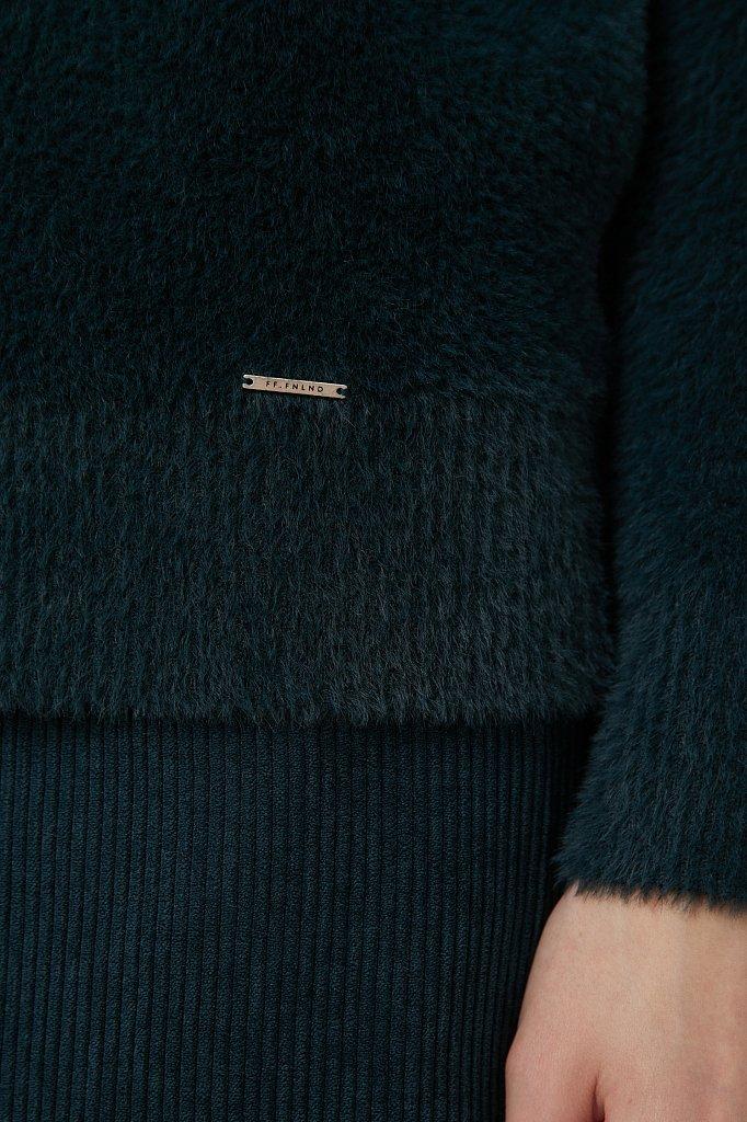 Женский джемпер из шелковистой пряжи с ворсом, Модель FAB11120, Фото №5