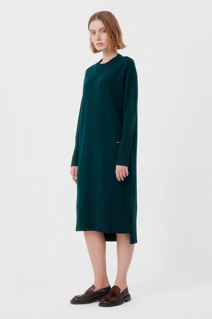 Женское трикотажное платье из шерсти и кашемира, Модель FAB11191, Фото №2