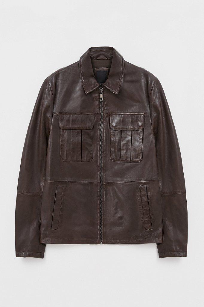 Куртка кожаная мужская, Модель FAB21801, Фото №7