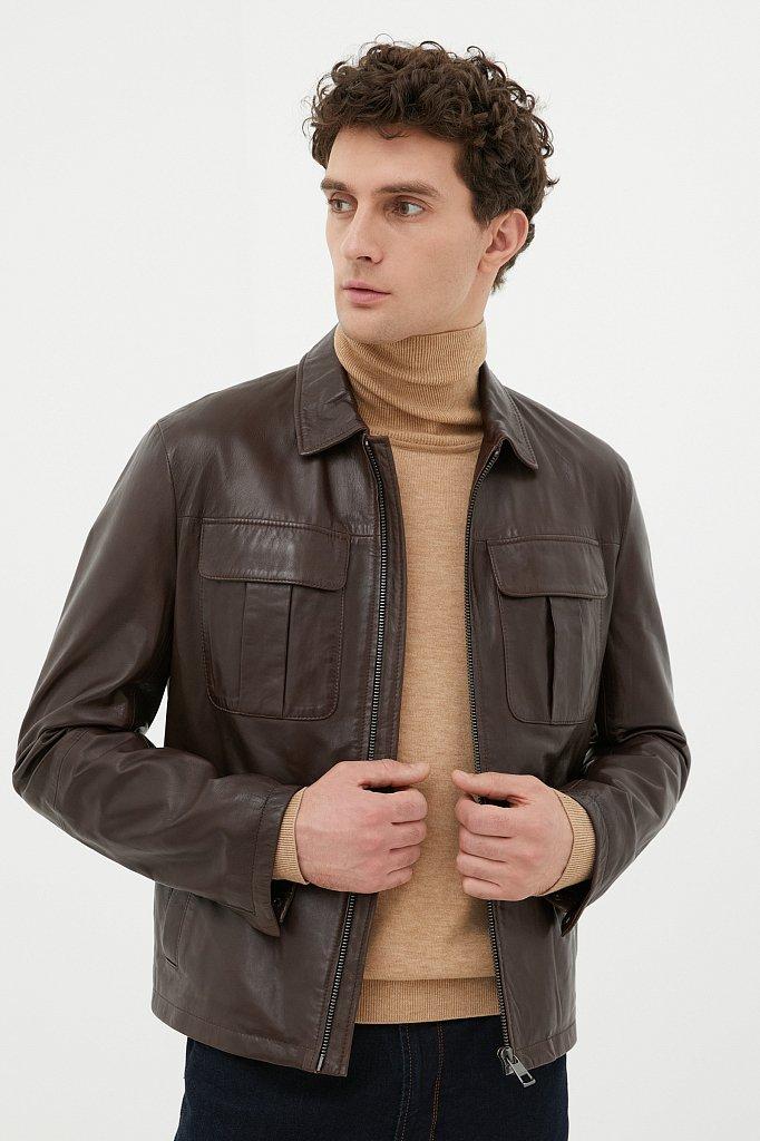 Куртка кожаная мужская, Модель FAB21801, Фото №2