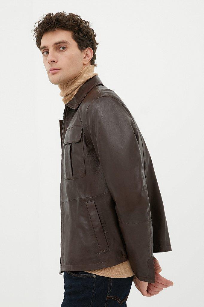 Куртка кожаная мужская, Модель FAB21801, Фото №3