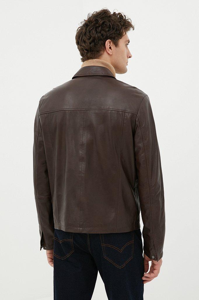 Куртка кожаная мужская, Модель FAB21801, Фото №4