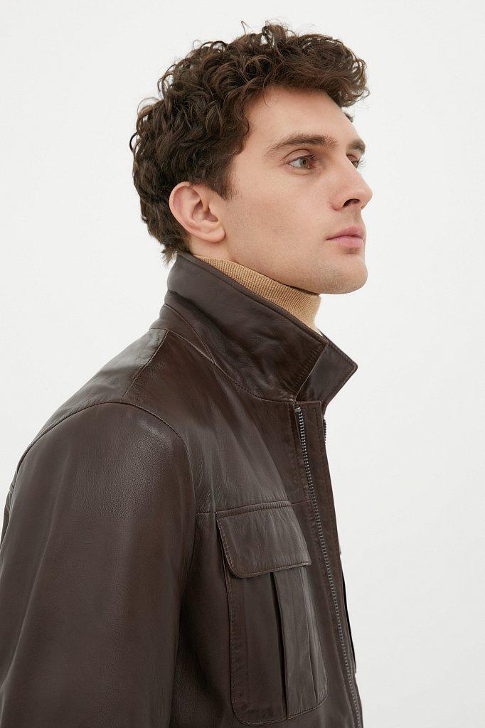Куртка кожаная мужская, Модель FAB21801, Фото №5