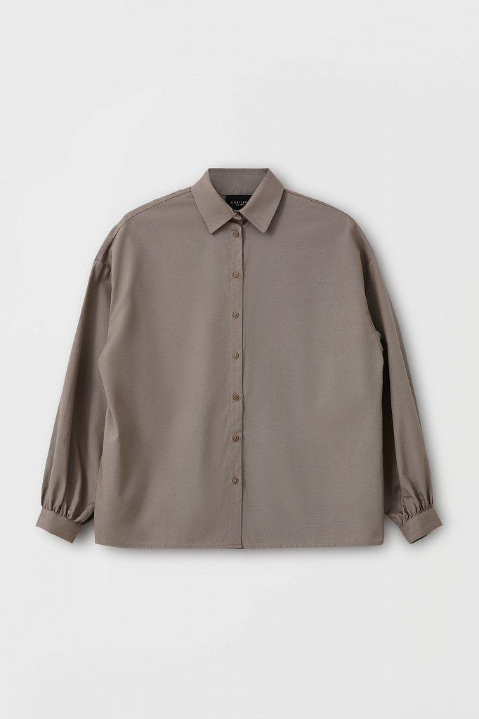 Женская рубашка оверсайз с объемными рукавами, Модель FAB110114, Фото №7