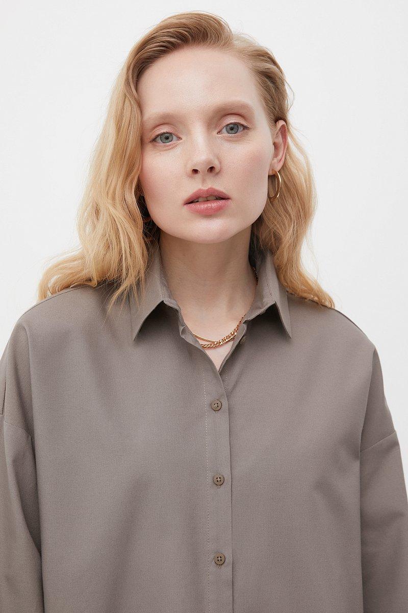 Женская рубашка оверсайз с объемными рукавами, Модель FAB110114, Фото №5