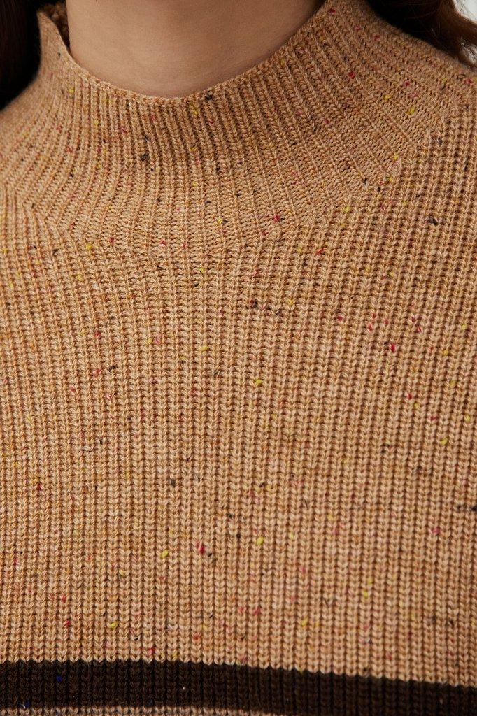 Женский джемпер с шерстью из твидовой пряжи, Модель FAB11194, Фото №5